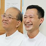 山内 信和 院長、原田 二郎 副院長