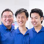 尾崎 桂三 先生、原田 正守 先生、梶 敬太 先生
