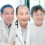 藤江俊雄院長、宮 典生副院長、勝沼伸英先生