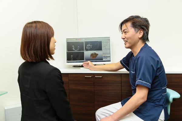 術前シミュレーションまでCT検査でインプラントは怖くない
