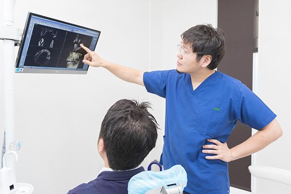 精密診査機器を使ったインプラント治療について