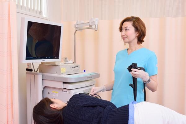 苦痛や負担軽減に配慮女性医師による経鼻内視鏡検査