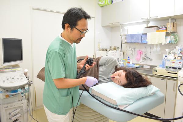 心身とも苦痛の少ない経鼻内視鏡咽頭から十二指腸まで検査が可能