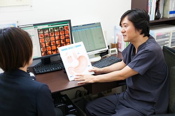 定期的な検査で病変を早期発見上部消化管内視鏡(胃カメラ)検査